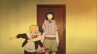 Boruto crashes on Naruto's Hokage face on school 1st day, Boruto activates Jougan for the first time