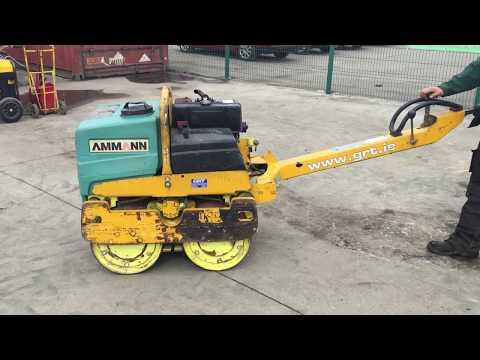 2002 Ammann AR65 Double Drum Diesel Pedestrian Vibration Roller For Auction 14th April 2018