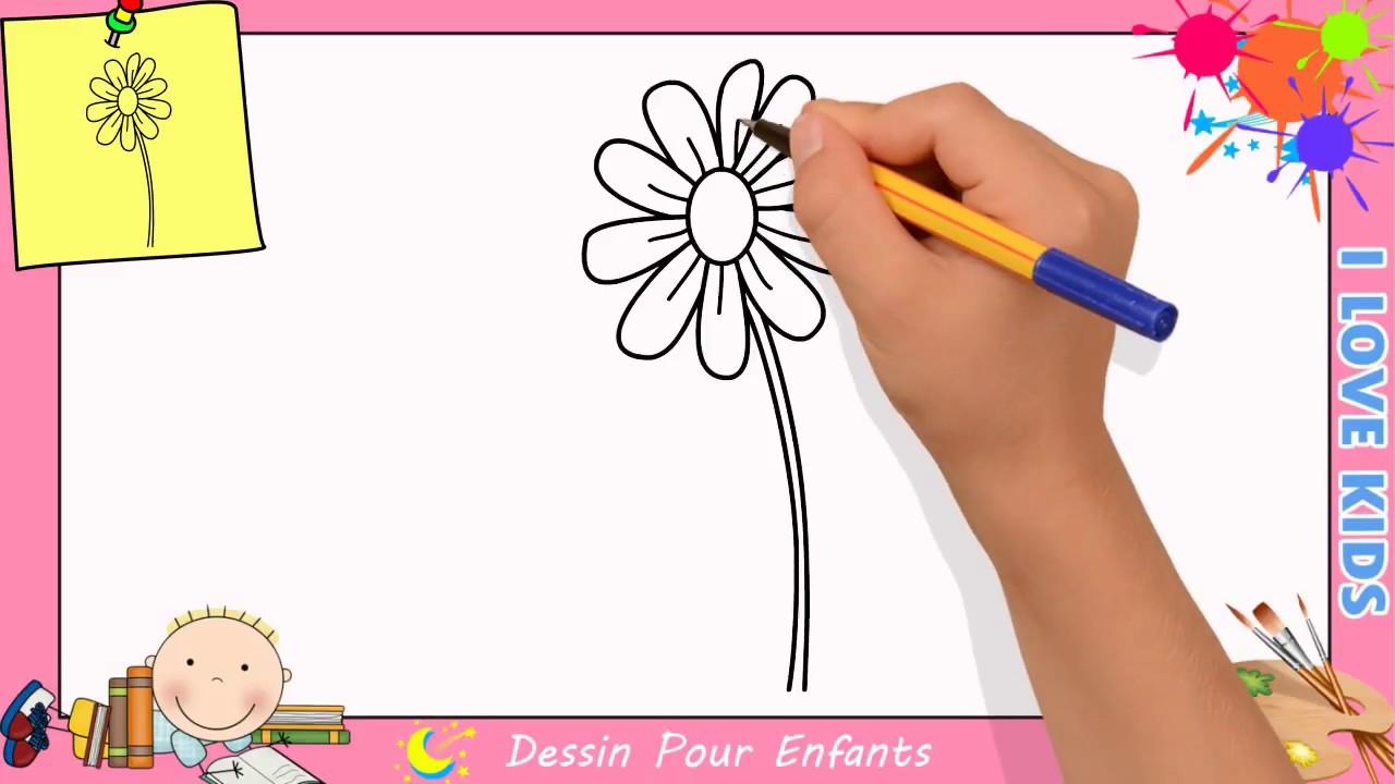 Comment Dessiner Une Fleur Facilement Etape Par Etape Pour Enfants 8