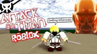 Immer Killstreaks! Angriff auf Titan: Untergang ROBLOX - Teil 4