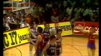 1983 Eurobasket Italy vs Spain Final