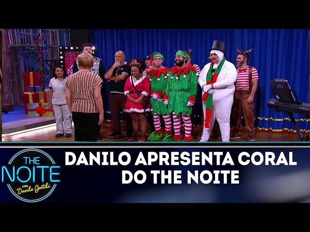Danilo Gentili apresenta coral de Natal   The Noite (25/12/18)