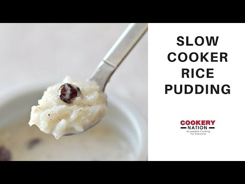 Slow Cookery Rice Pudding