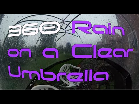 360 ASMR Rain on a Clear Umbrella