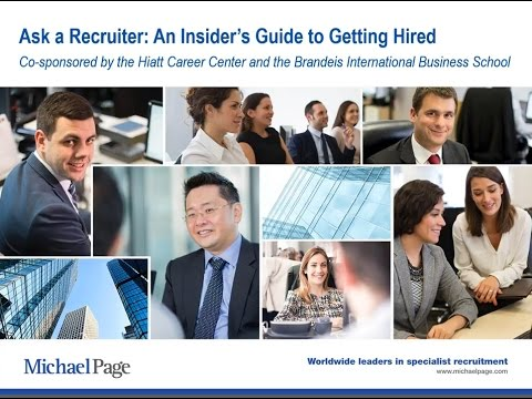 Ask a Recruiter: An Insider's Guide to Getting Hired