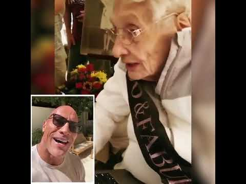 Bob Delmont - The Rock Sends a Birthday message to 100 year old Fan!