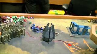 Drop Pod Space Wolves vs. Dual Deathstar Eldar and Dark Eldar
