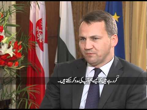 Polish Foriegn Minister Radoslaw Sikorski Interview