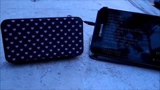 산와서플라이 휴대용 스피커 야외 사용