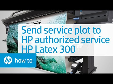 Sending the Service Plot to HP Authorized Service | HP Latex 300 Printer | HP