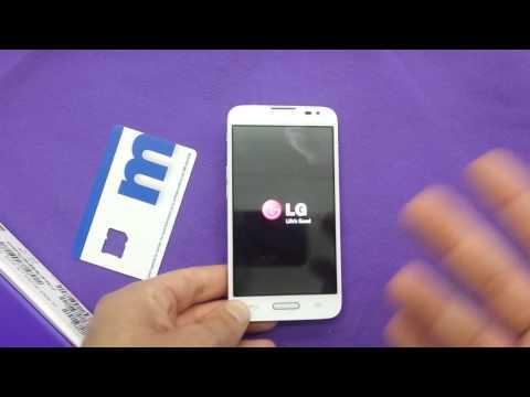LG L70 (white) unboxing for metro pcs
