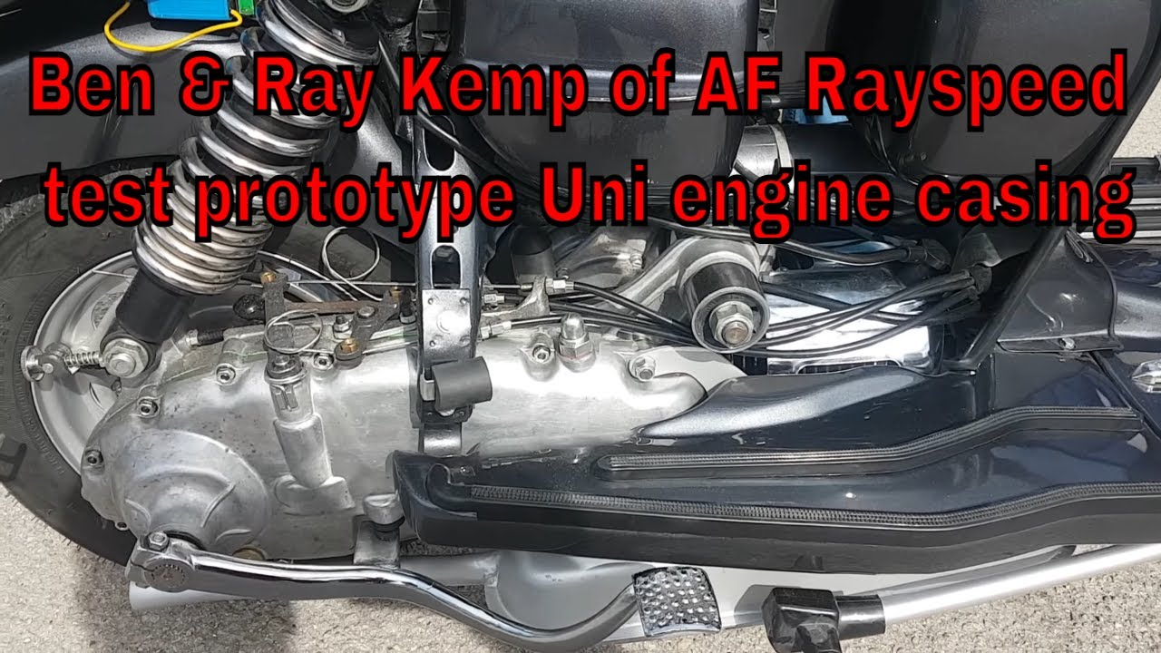 Ben & Ray Kemp of AF Rayspeed test new Lambretta prototype engine casings from UNI