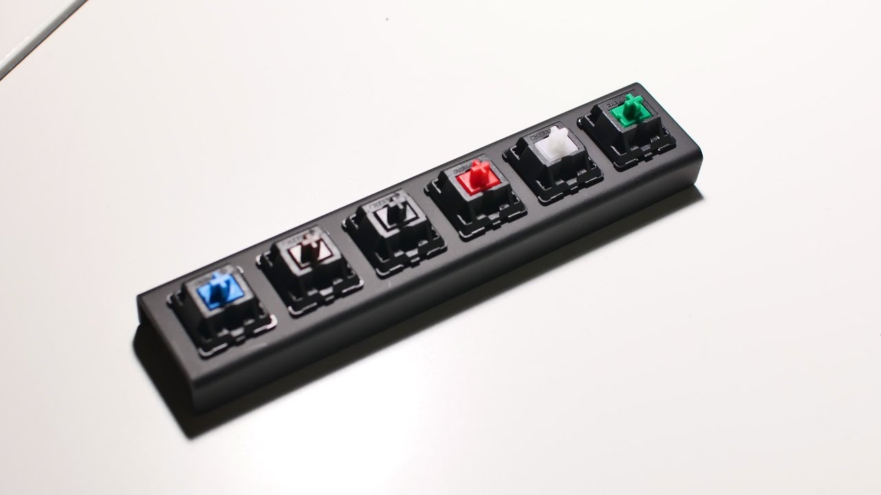 cherry mx switches sound comparison blue brown black red white green youtube. Black Bedroom Furniture Sets. Home Design Ideas