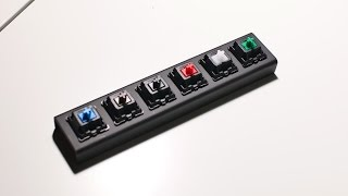 Cherry MX Switches Sound Comparison (Blue, Brown, Black, Red, White, Green)
