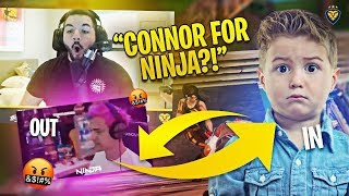 CONNOR REPLACES NINJA?! HE CARRIED US?! (Fortnite: Battle Royale)