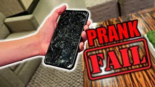 Cracked iPhone 7 Prank On DAD!**EPIC FA...