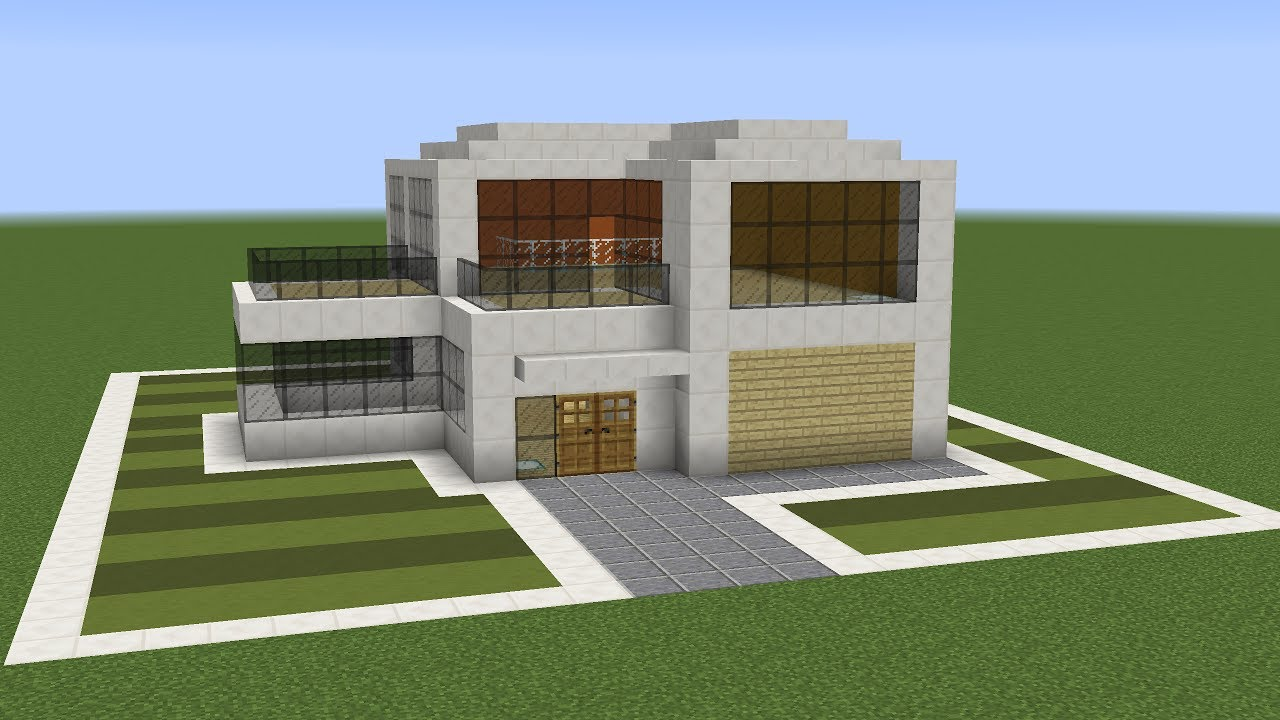 Minecraft how to build a modern suburban house youtube for Minecraft modern house 9minecraft