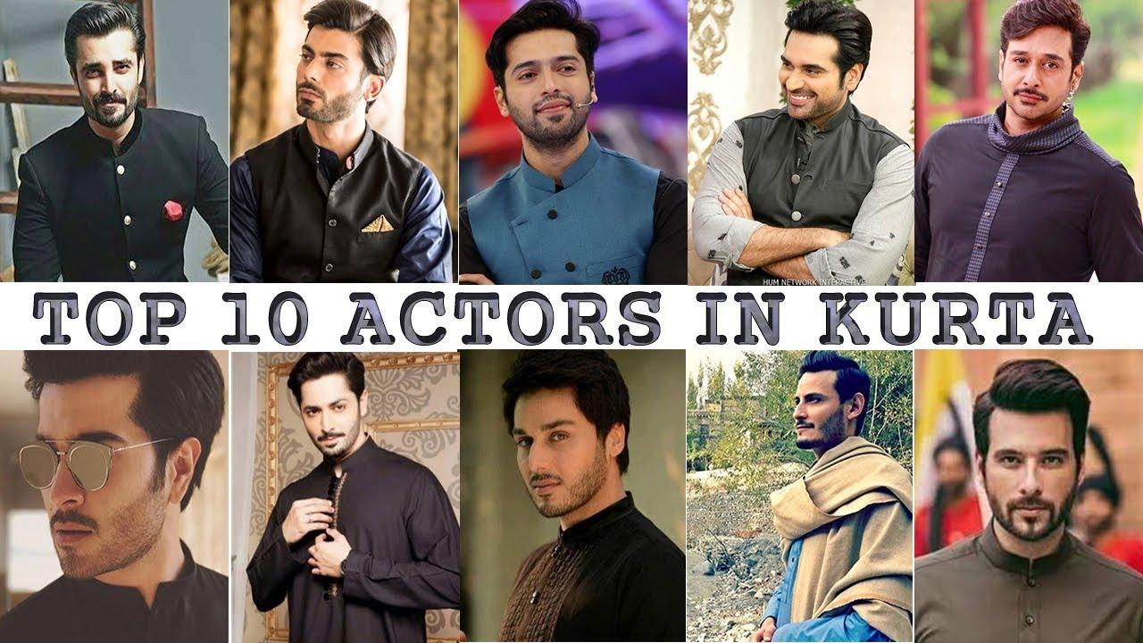 c5b25aad80 TOP 10 PAKISTANI ACTORS IN KURTA OR SHALWAR KAMEEZ - YouTube