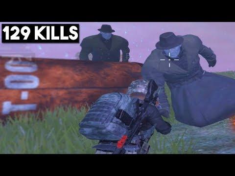 FIGHTING THE ZOMBIE BOSS TYRANT! | 129 KILLS | PUBG Mobile