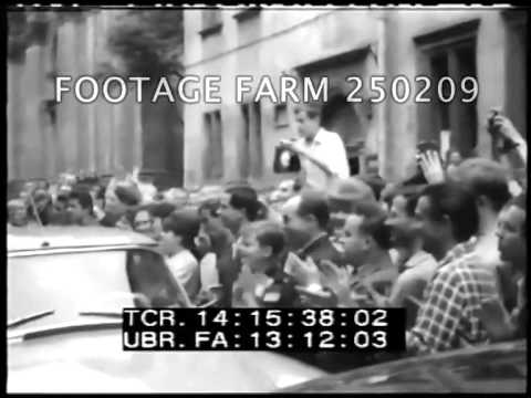 Attorney General Kennedy in Warsaw 250209-06 | Footage Farm