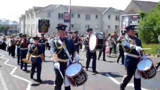 HM King Billy Landing at Carrickfergus County Antrim 8th June 2013