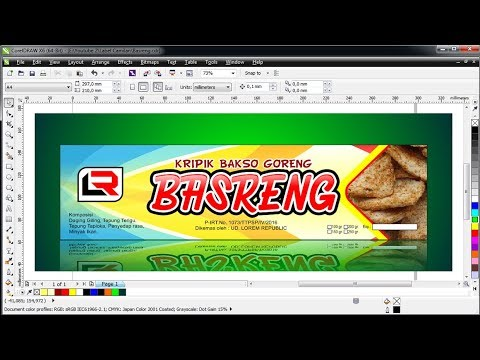 Membuat Desain Label Kemasan Snack Kripik Coreldraw X6 Youtube
