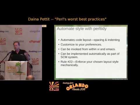 Perl's Worst Best Practices