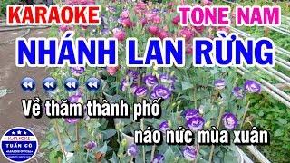 Karaoke Nhánh Lan Rừng | Nhạc Sống Beat Nam | Karaoke Tuấn Cò