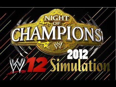 WWE Night of Champions 2012 WWE 12 Simulation
