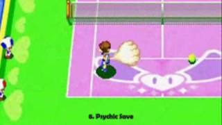 Mario Tennis - Power Tour GBA All Defensive Power Shots