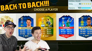IMPOSSIBLE BACK TO BACK 190 FUT DRAFT CHALLENGE WORLD RECORD!! - FIFA 16