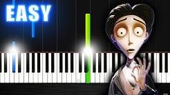 Victor's Piano Solo (Corpse Bride) - EASY Piano Tutorial by PlutaX