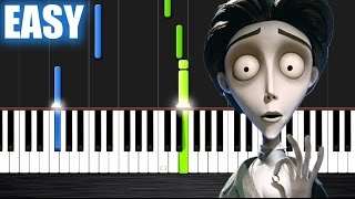 Victor's Piano Solo (Corpse Bride) - EASY Piano Tutorial by PlutaX