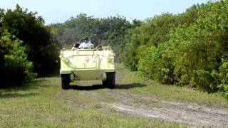 STS-135: Crew drives M113 armored personnel carrier