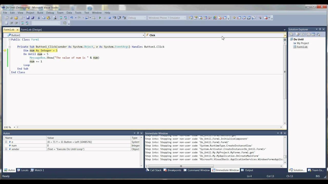 Loops In Visual Basic