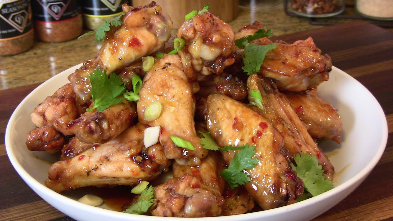 SWEET CHILI LIME WINGS RECIPE |Cooking With Carolyn
