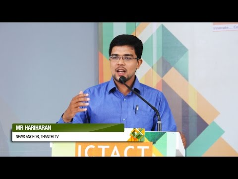 Hariharan | Thanthi TV | ICTACT Bridge 2015