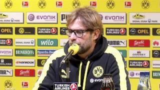 Borussia Dortmund - Bayer Leverkusen: Pressekonferenz nach dem Spiel