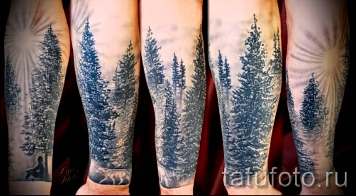 значение тату лес фото эскизы смысл