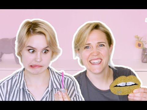 My Little Sister Reviews Lip Gloss!