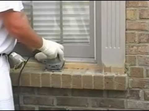 Sanding Wood Window - YouTube