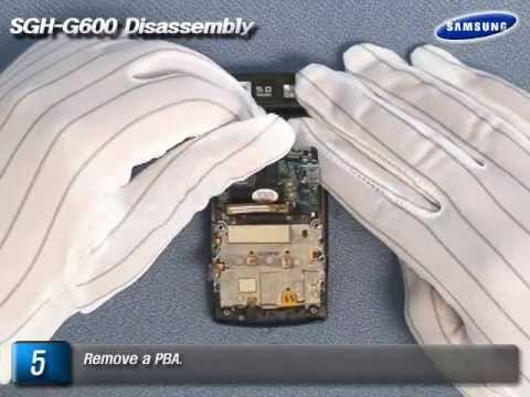 Samsung SGH-G600 Disassembly