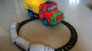 Kids Playing With Pickup Toy Truck Carrying Choo Choo Trains For Toddlers by JeannetChannel thumbnail