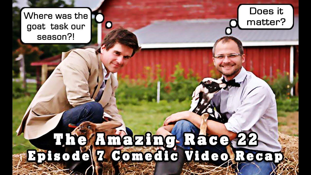 The amazing race 22 episode 7 comedic video recap mashup youtube