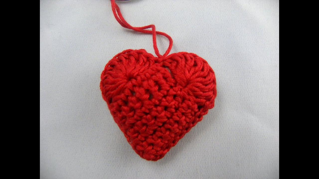 Häkeln - Herz mit Botschaft - YouTube