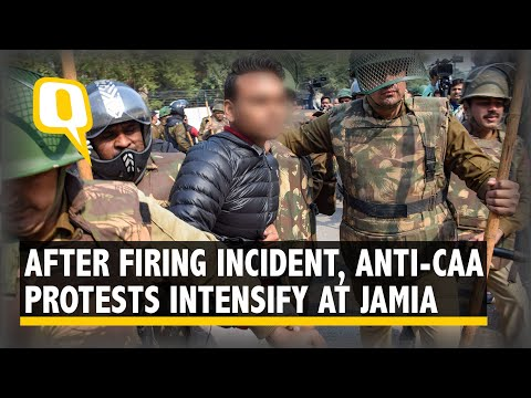 Anti-CAA Protests Intensify Near Jamia University After Miscreant Fired At Student