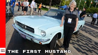 In 1964, at the age of 22, gail wise purchased a skylight blue ford mustang. her family six used it for 15 years before car stopped working and s...