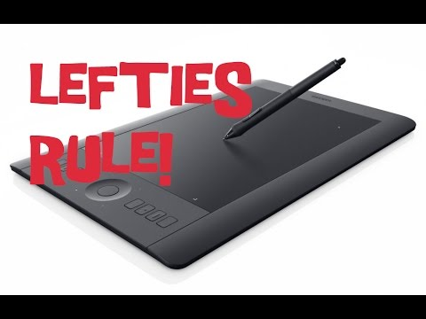 How to set up your wacom tablet for left handed use youtube how to set up your wacom tablet for left handed use keyboard keysfo Image collections