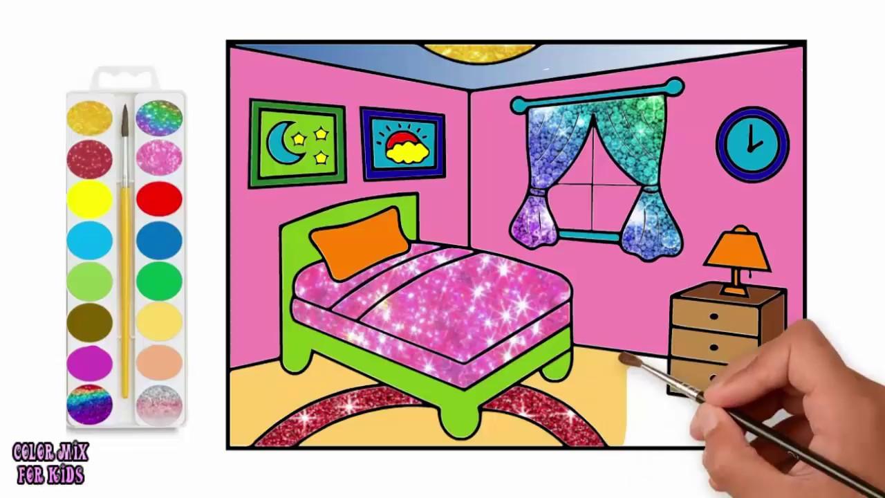 كيفية رسم غرفة نوم خطوة بخطوة للأطفال How To Draw A Bedroom Step
