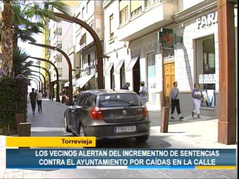 Los Verdes alerta del incremento de sentencias contra Torrevieja por caídas en la calle